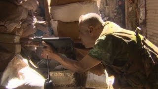 On the front line with al-Assad fighters