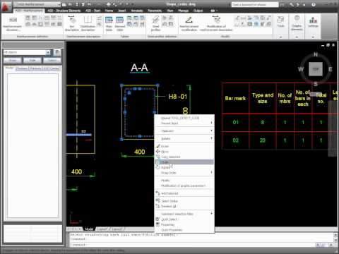 AutoCAD 2011 Structural Detailing Tutorial: Reinforcement Bar Definition