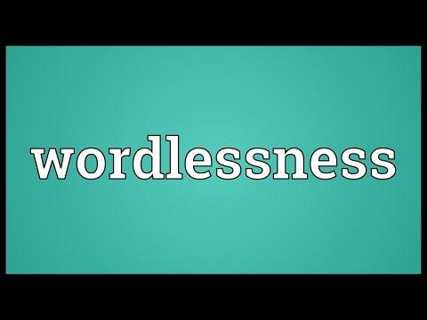 Header of wordlessness