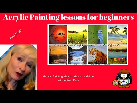 Have you painted THESE ? Acrylic Painting Tutorials for Beginners, step by step real time