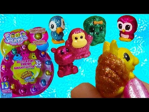 Squinkies Series 35 Glitter Fun Pets Opening Shopping haul Part 1