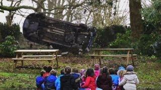 Too much? Shocking speeding advert shows children getting crushed by car