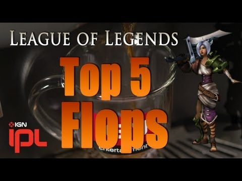 League of Legends Top 5 Flops - Episode 6 ft. Quantic Gaming, Curse Elementz, CLG DoubleLift - IPL