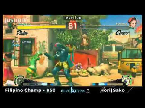 SSF4 [CA] Sakonoko  Vs Filipino Champ [DH] Money Match $50