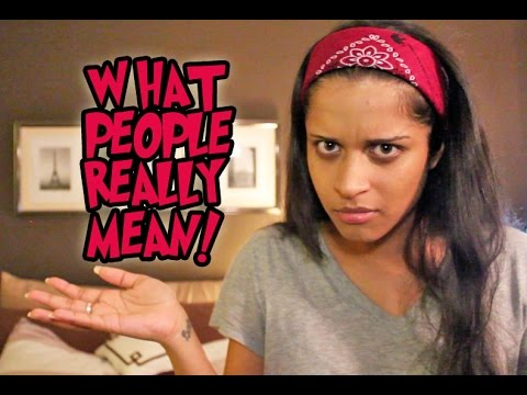 What People Really Mean