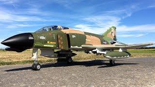 Freewing F-4 Phantom II 90mm EDF Jet With Full Ordinance Off Grass
