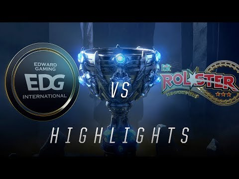 EDG vs KT - Worlds Group Stage Day 7 Match Highlights (2018)