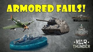 ARMORED FAILS - Funny and Epic Moments from WoT, WoWs, WT! (April 2018)