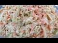 How to make my COLESLAW Recipe: Simple & easy: Step by Step Demo!