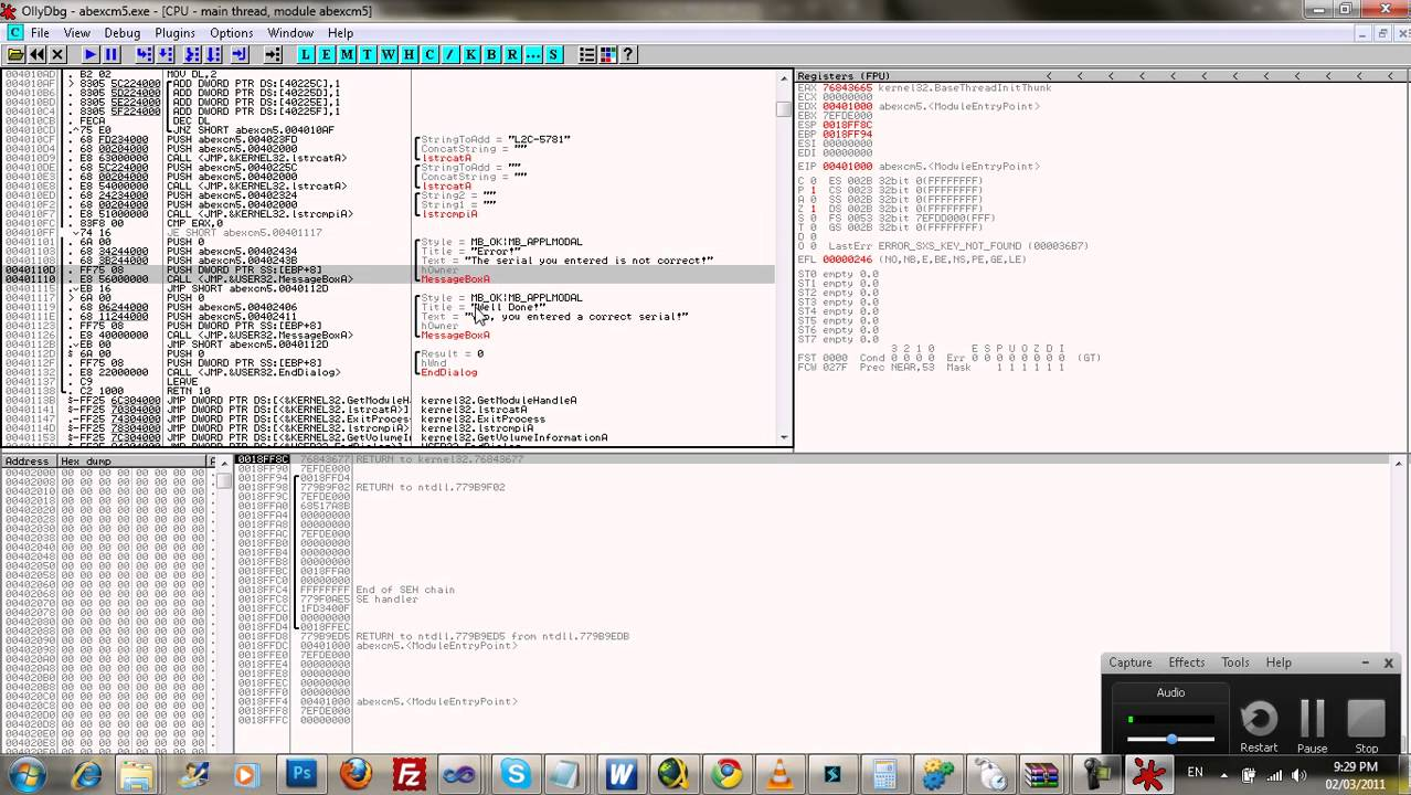 How To Crack/Patch A Program - /w OllyDBG. the lady is a tramp feat lady ga