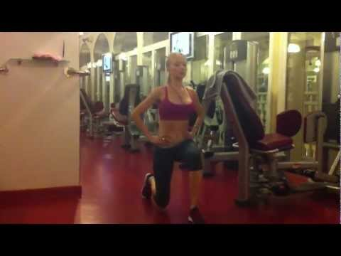 Valeria Lukyanova beauty secret. Exercise to have good legs and butt
