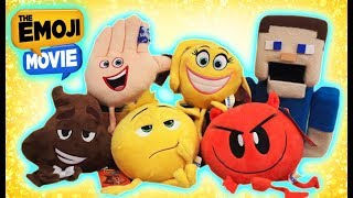 The Emoji Movie PLUSH Toys Collectible Set Gene Hi-5 Poop Smiler Devil unboxing trailer minecraft