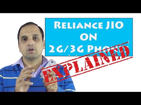 Explanied Technology Reliance JIO 4g works on 3g Phones