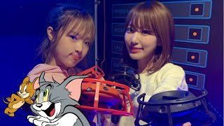 190221 IZONE 아이즈원 VLIVE - VR Game With Tom And Jerry (Miyawaki Sakura & Choi Yena)