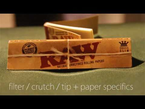 How to Roll a Filter / Crutch / Tip for your Joint + Paper and Filter Specifics