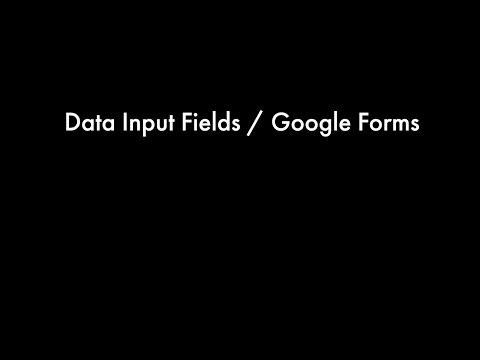 Data Input Fields / Google Forms