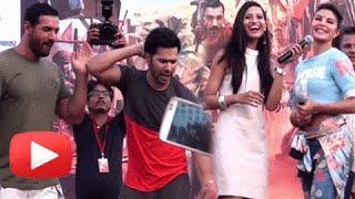 Varun Dhawan, Jacqueline, John Abraham Stunts And Fun Moments | Dishoom Promotions