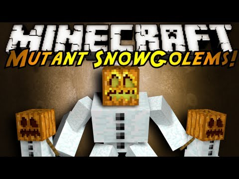 Minecraft Mutant Snow Golem Papercraft Mutant Snow Golems