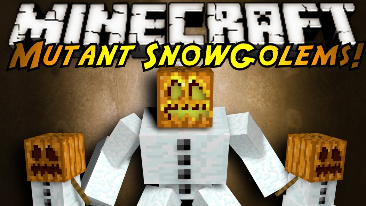 Minecraft Mod Showcase : MUTANT SNOW GOLEMS! - YouTube