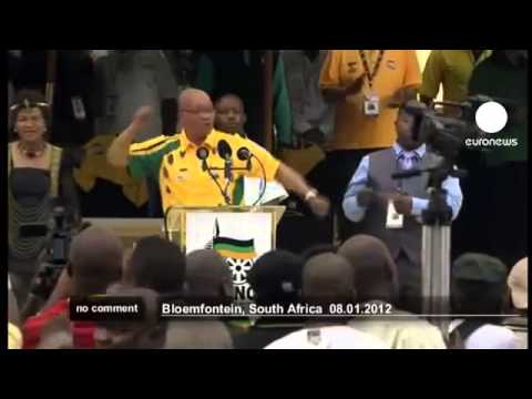South African President Jacob Zuma Sings at ANC Celebration!