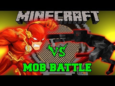 ALIEN VS THE FLASH - Minecraft Mod Battle - Mob Battles - OreSpawn and Superheroes Unlimited Mods