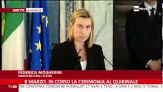 Mogherini al Quirinale: Giornata Internazionale della Donna
