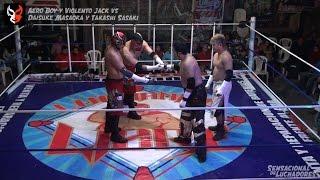 Aero Boy y Violento Jack vs Daisuke Masaoka y Takashi Sasaki