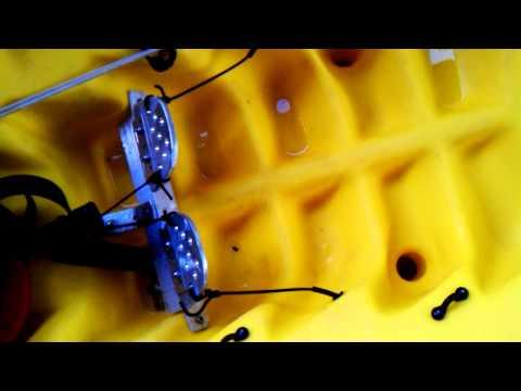Home made kayak rudder