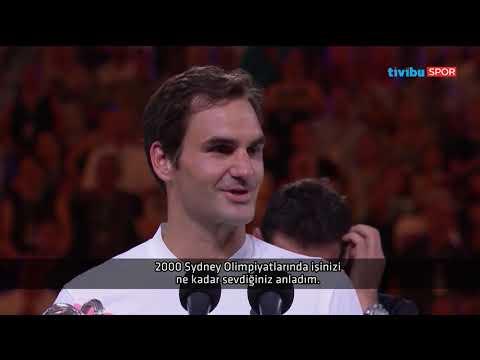 20. Grand Slam'ini kazanan Federer'in ödül töreninde yaptığı duygusal konuşma I Türkçe Altyazı