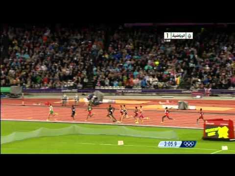 image vid�o الجزائري توفيق مخلوفي يحرز ذهبية 1500 متر في أولمبياد لندن 2012