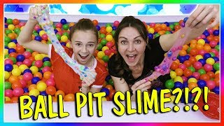 MAKING SLIME IN A BALL PIT! | BALL PIT SLIME | We Are The Davises