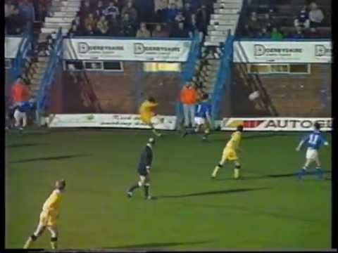 Chesterfield 3 Burnley 0 1992-3 Lancaster hat-trick