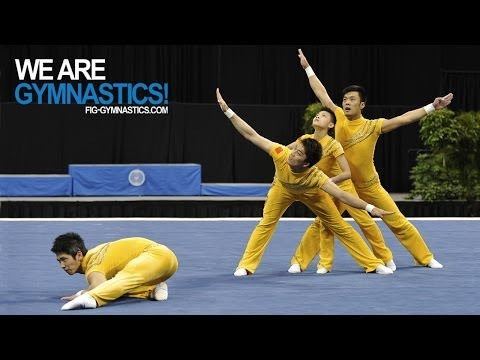 2012 Acrobatic Worlds - LAKE BUENA VISTA, USA - Men's Group Final - We are Gymnastics!