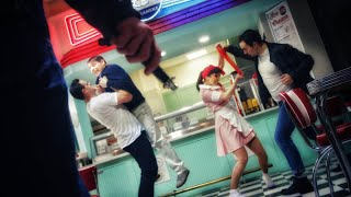 50's Diner Super Power Brawl! In 8K