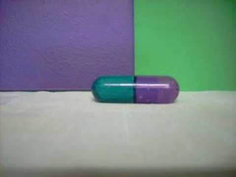 green and purple pills