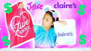 Buying The Cheapest Thing At Justice and Claire's Challenge! Tiana vs Mommy Opening Squishy Toys