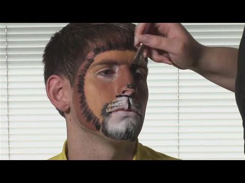 Realistic Lion Face Paint Make a Lion Face Painting