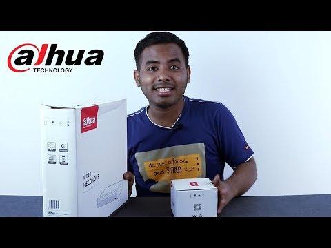 Unboxing and Review Dahua 8 channel DVRXVR plsu cc camera Bengali