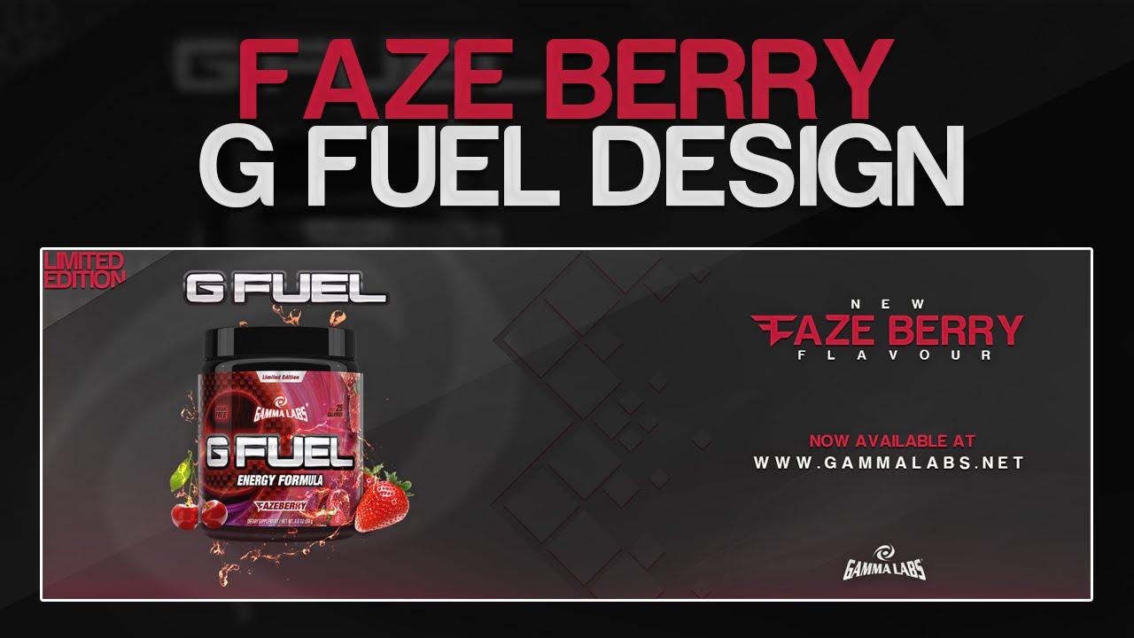 faze berry g fuel advert design