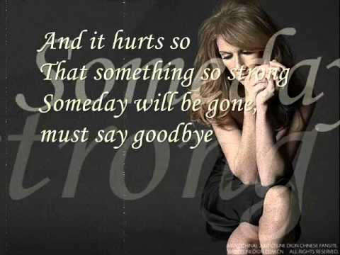 Celine Dion - Goodbye's The Saddest Word With Lyrics video