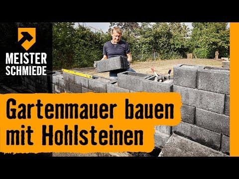 Gartenmauer bauen mit Hohlsteinen | HORNBACH Meisterschmiede