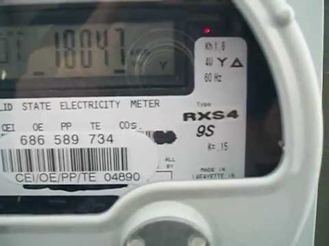 Landis Gyr Electric Meter on