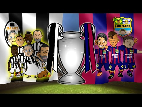 ROAD TO THE CHAMPIONS LEAGUE FINAL 2015 (Juventus vs Barcelona Titles Cartoon Parody)