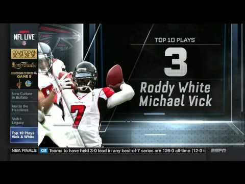 Falcons honoring Michael Vick, Roddy White today | NFL Live | June 12, 2017