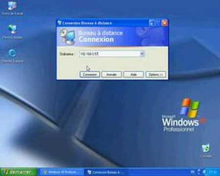 Utilisation du bureau a distance windows xp youtube for Windows 7 bureau vide