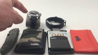 Dutch Sandwich EDC 2017 Kore Essentials Slim Wallet Tumi Benchmade Griptilian Knife Fitbit Charge 2