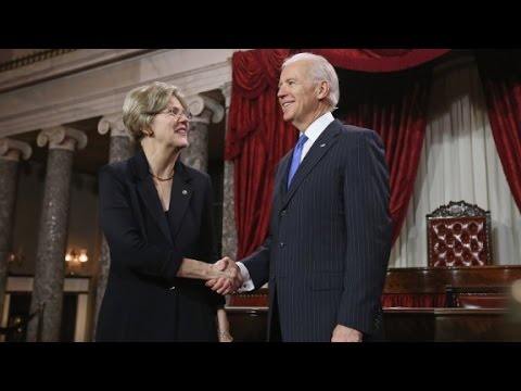 Warren outlines differences with Biden