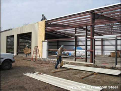 Steel Building Erection Sequence Youtube