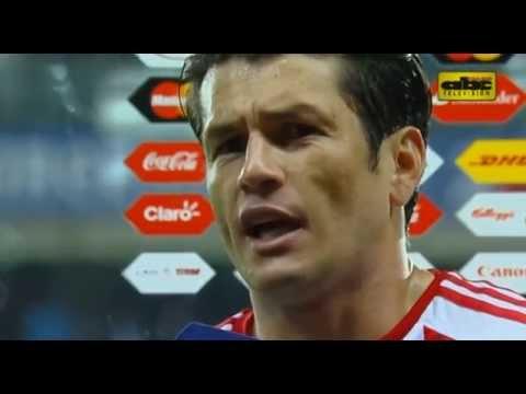 Nelson Haedo, Ramón Díaz y Lucas Barrios - Post Paraguay 2 vs. Argentina 2