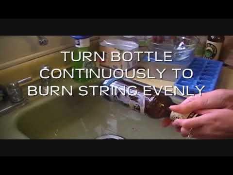 DIY: Easy way to cut glass bottles !  in glass diy  with Vintage Light Glass DIY Chandelier Bottle